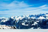 Paisaje de montaña Alpes. paisaje de invierno — Foto de Stock