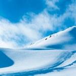Snow Mountain. mountains under snow in the winter — Stock Photo