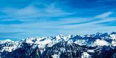Альпах горный пейзаж. Зимний пейзаж — Стоковое фото