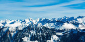 Alps mountain landscape. Winter landscape — Stock Photo