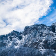 Beautiful winter landscape in the mountains. Mountain area in t — Stock Photo