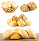 Bread on a white background. — Stock Photo
