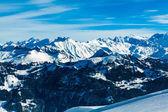 Alps mountain landscape. Winter landscape — Stock Photo