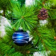 Christmas decoration baubles — Stock Photo
