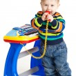 Little boy and the keyboard  — Stock Photo