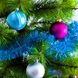 Decoration on christmas tree — Stock Photo #33380877