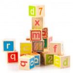 blocos de madeira alfabeto — Foto Stock