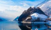 Winter in den schweizer alpen. — Stockfoto