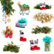 Christmas collection isolated on white background. money as a g — Stock Photo