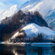 Winter in the swiss alps. — Stock Photo
