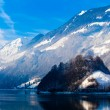 Stock Photo: Winter in the swiss alps.