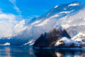 Winter in the swiss alps. — Foto de Stock