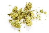 Marijuana isolated on white background. — Stock Photo