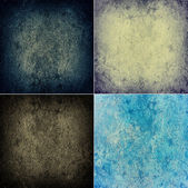 Grunge textures set — Stock Photo