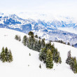Winter landscape.  Alpine Alps mountain landscape — Stock Photo