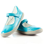 Children shoes isolated on white background. — Stock Photo