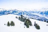 Winter landscape. Alpine Alps mountain landscape — Stock Photo
