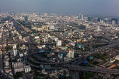 Bangkok skyline, Thailand. Top view city, Bangkok — Стоковое фото