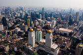 Bangkok skyline, Thailand. Top view city, Bangkok — Stock Photo
