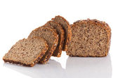 Bread on white background — Stock Photo