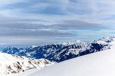山の上部。高山雪下 — ストック写真