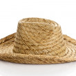 Straw hat isolated on a white background — Stock Photo #39128719