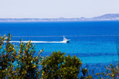 Yachts in blue. Mallorca, Spain. Top view — Stock Photo