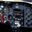 Cockpit detail. Cockpit of a small aircraft — Stock Photo #40645505