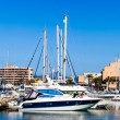 Yachts and boats anchored at a marina. Sailing Boats — Stock Photo #40645683
