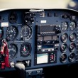 Cockpit detail. Cockpit of a small aircraft — Stock Photo #40810255