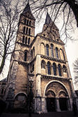 Old Church in grunge-vintage style. Vintage looking — Stock Photo