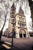 Old Church in grunge-vintage style.  Vintage looking — Zdjęcie stockowe