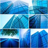 Modern glass silhouettes — Stock Photo