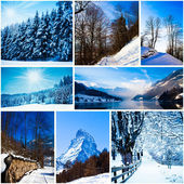 Winter in swiss alps — Stock Photo