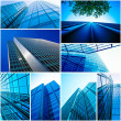 Stock Photo: Modern glass building exterior