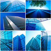 Modern glass building exterior  — Stock Photo
