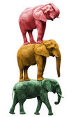 Three elephants — Stock Photo