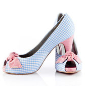 Beyaz izole kadın ayakkabıları. güzel kadın ayakkabı — Stok fotoğraf