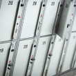 Lockers cabinets in a locker room.  lockers at a railway station — Stock Photo #42759969