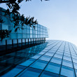 Abstract building. blue glass wall of skyscraper — Stock Photo