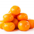 Ripe juicy tangerine on a white background. Clementine Mandarin — Stock Photo #43119839