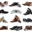 Male shoes collection.  men shoes over white background — Stock fotografie #43120607