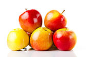 fresh colorful apples isolated on white background  — Stockfoto