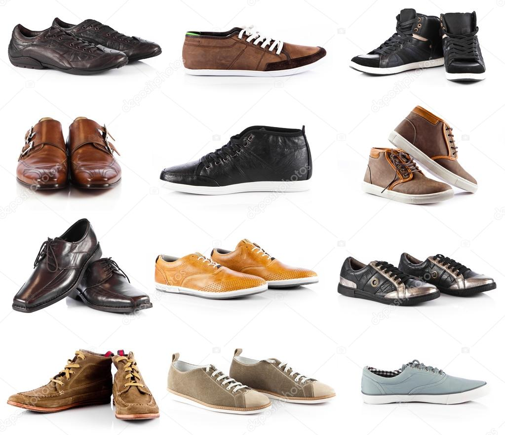 shoes collection shoes white background