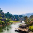 Landscape at the River Kwai, Kanchanaburi, Thailand. — Stock Photo