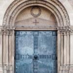Church door. old metal Door — Stock Photo