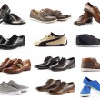 Male shoes collection.  men shoes over white background — Stock Photo #43952073