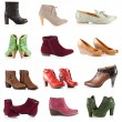Female footwear. female shoes over white — Foto de Stock