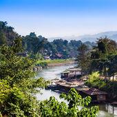 Landscape at the River Kwai, Kanchanaburi, Thailand.  — Stock Photo
