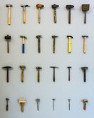 Different hammers — Stock Photo